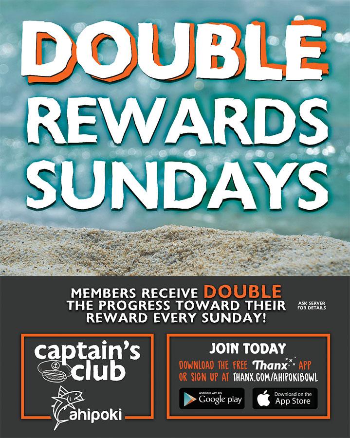 Double Rewards Sunday Graphic
